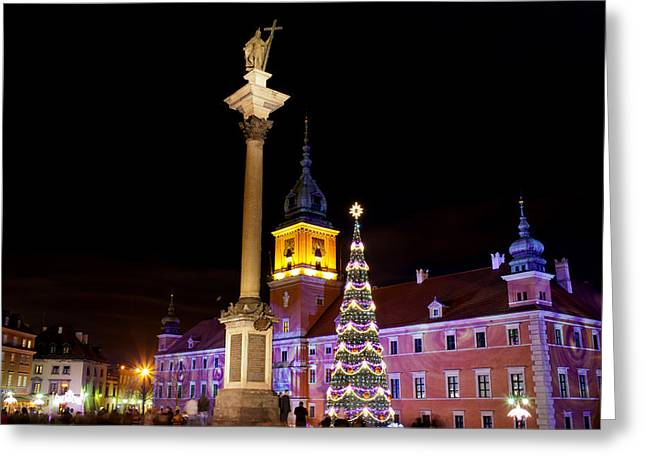 Polish Culture Greeting Cards - Christmas in Warsaw Greeting Card by Artur Bogacki