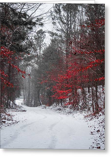 Snowstorm Greeting Cards - Christmas is Coming Greeting Card by Parker Cunningham