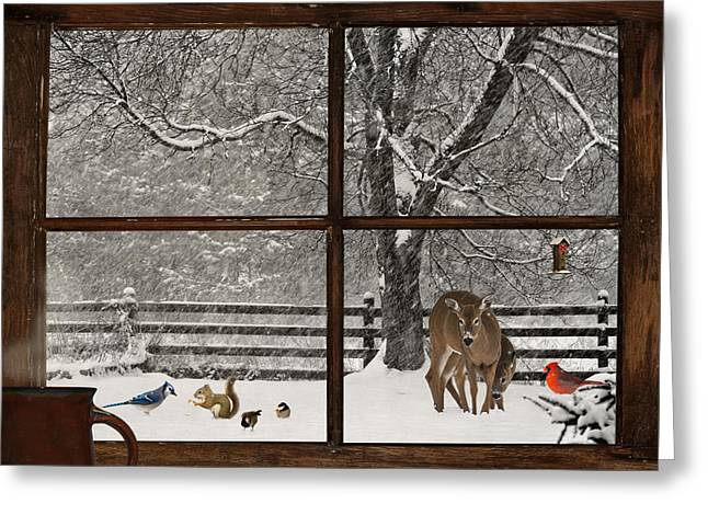 Unique View Greeting Cards - Christmas. Greeting Card by Kelly Nelson