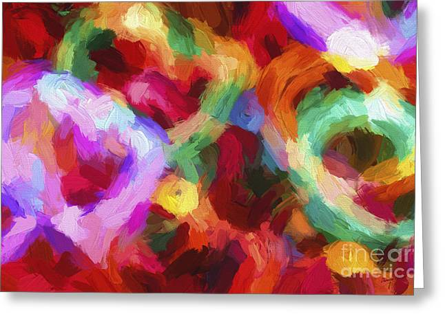 Spectrum Greeting Cards - Christmas Light Abstract Greeting Card by Darren Fisher