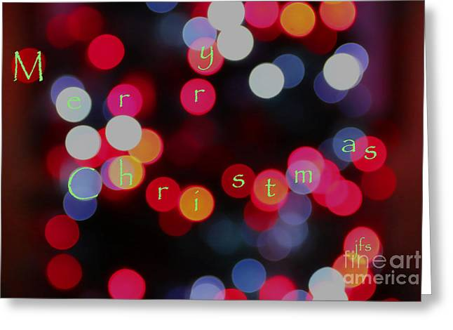 Christmas Lights Greeting Card by Jack Schultz