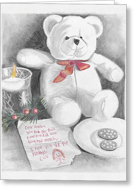 Susan Schmitz Greeting Cards - Christmas List Greeting Card by Susan Schmitz