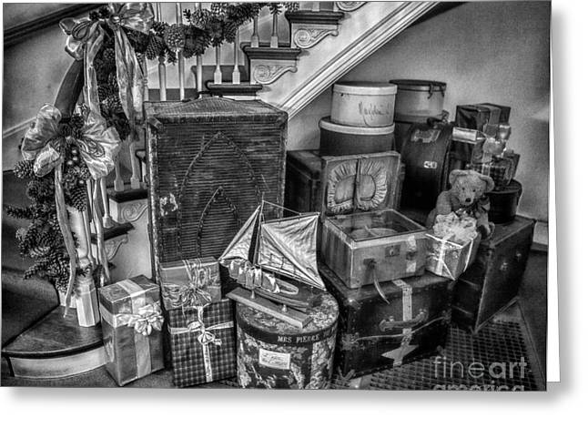 Owner Photographs Greeting Cards - Christmas Luggage Greeting Card by Iris Richardson