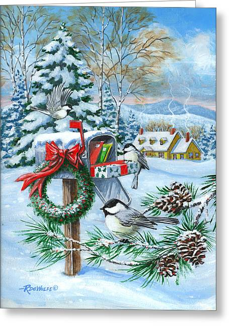 Richard De Wolfe Greeting Cards - Christmas Mail Greeting Card by Richard De Wolfe