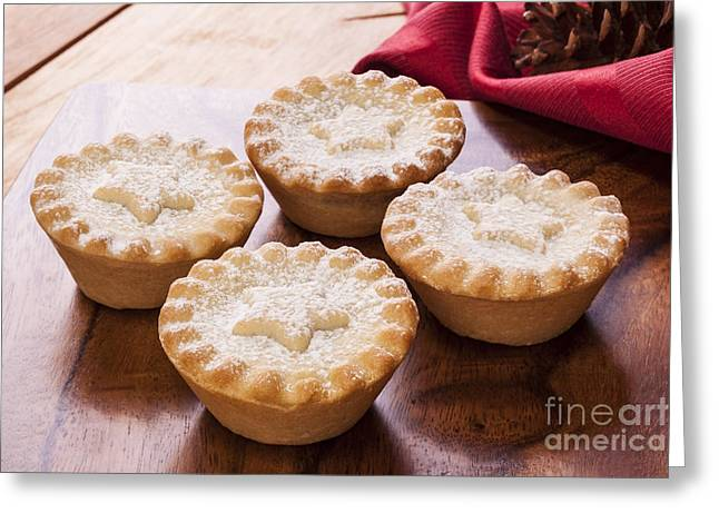 Star Shape Greeting Cards - Christmas Mince Pies Greeting Card by Colin and Linda McKie