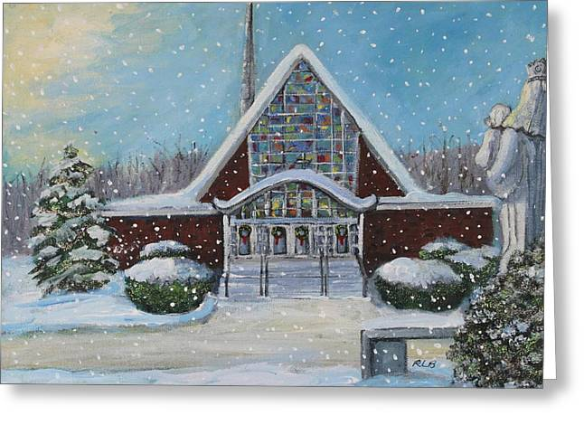 Christmas Morning At Our Lady's Church Greeting Card by Rita Brown