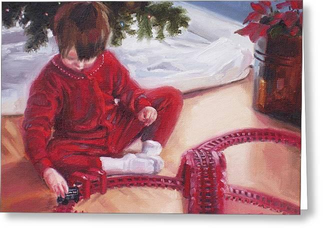 Pajamas Greeting Cards - Christmas Morning Greeting Card by Erin Rickelton