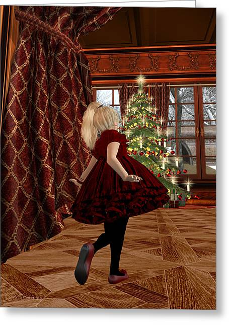 Kylie Sabra Greeting Cards - Christmas Morning Greeting Card by Kylie Sabra