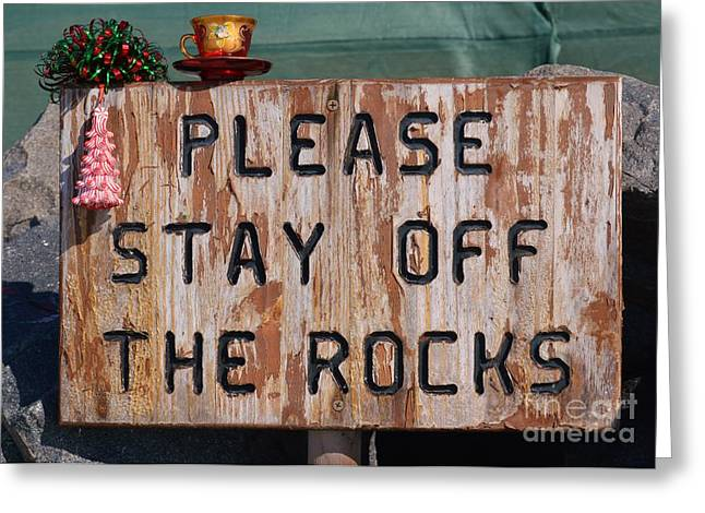 Laurie D Lundquist Photographs Greeting Cards - Christmas off the Rocks Greeting Card by Laurie D Lundquist