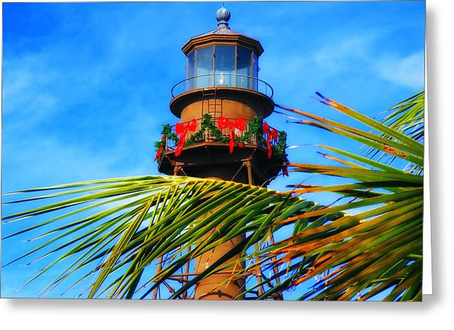 Spirt Greeting Cards - Christmas on Sanibel Island in Florida Greeting Card by Mountain Dreams