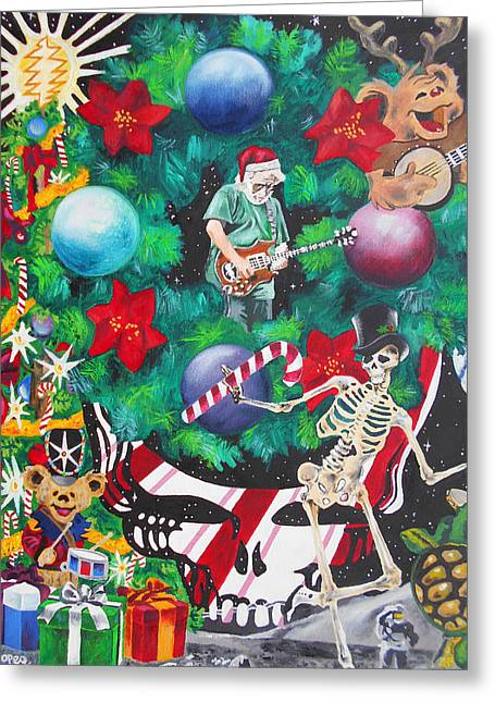 Christmas On The Moon Greeting Card by Kevin J Cooper Artwork
