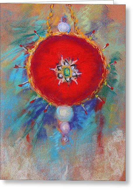 Child Toy Pastels Greeting Cards - Christmas ornament 1 Greeting Card by M Diane Bonaparte