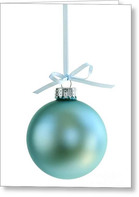 Christmas Ornament On White Greeting Card by Elena Elisseeva