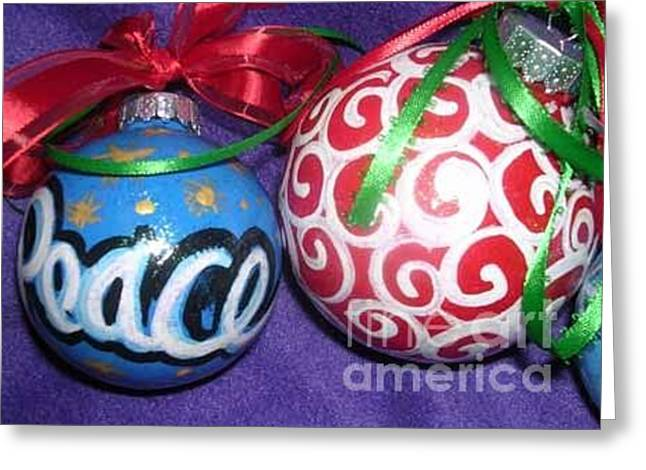 Mother And Child Greeting Cards Greeting Cards - Christmas Ornaments 1 Greeting Card by Genevieve Esson