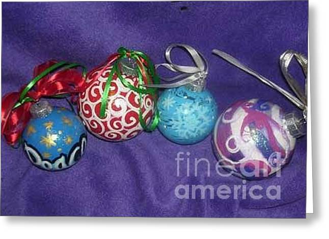Mother And Child Greeting Cards Greeting Cards - Christmas Ornaments 3 Greeting Card by Genevieve Esson