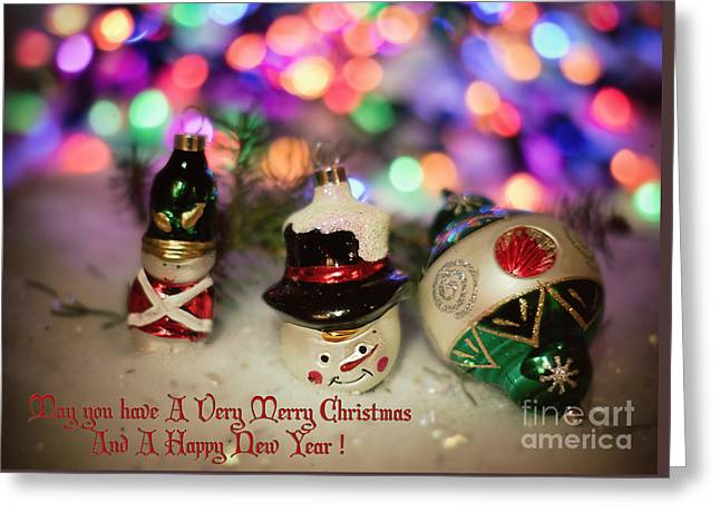 Christs Birthday Greeting Cards - Christmas Ornaments of Old number two Greeting Card by Carolyn Rauh
