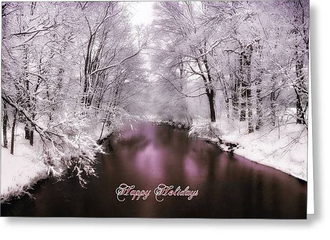Christmas Cards Photographs Greeting Cards - Christmas Pond Greeting Card by Jessica Jenney