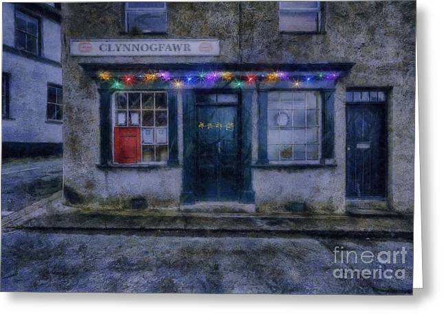 Postal Greeting Cards - Christmas Post Office Greeting Card by Ian Mitchell