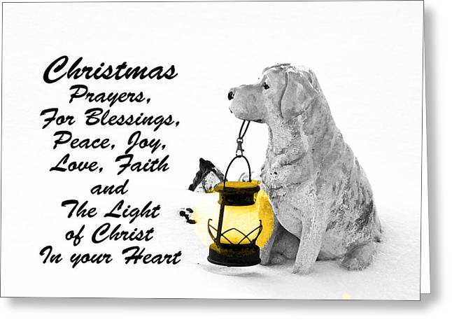 Most Viewed Digital Greeting Cards - Christmas Prayers Greeting Card by Lorna Rogers Photography