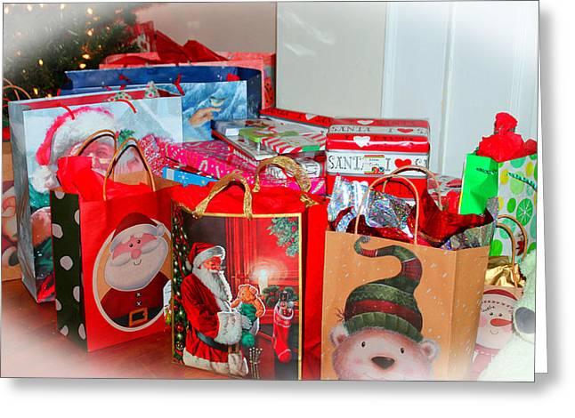 Christmas Presents Greeting Card by Cynthia Guinn