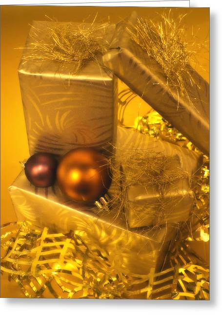 Christmas Greeting Photographs Greeting Cards - Christmas Presents Greeting Card by Wim Lanclus