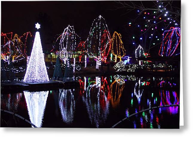 Christmas Eve Greeting Cards - Christmas Reflections Greeting Card by Dan Sproul