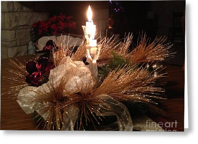 Christmas Eve Greeting Cards - Christmas Shining Light Greeting Card by Luther   Fine Art