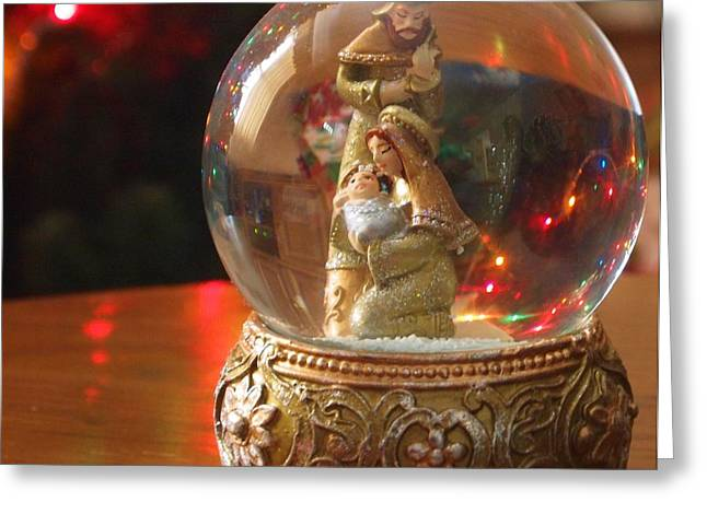 Christmas Eve Photographs Greeting Cards - Christmas Snow Globe Greeting Card by Dan Sproul