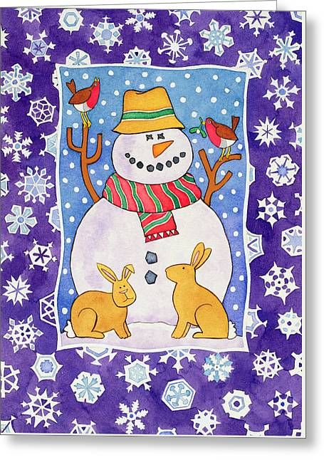 Christmas Snowflakes Greeting Card by Cathy Baxter