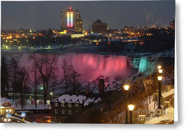 Generators Greeting Cards - Christmas Spirit at Niagara Falls Greeting Card by Lingfai Leung