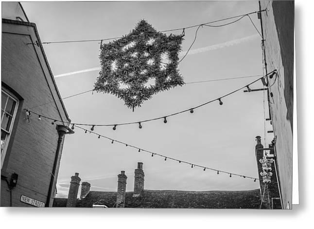 Milton Keynes Greeting Cards - Christmas star Greeting Card by David Isaacson
