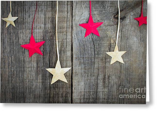 Surprise Greeting Cards - Christmas Star Decoration Greeting Card by Aged Pixel