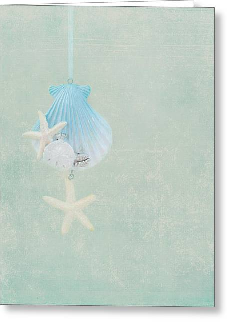 Decorative Fish Greeting Cards - Christmas Starfish Greeting Card by Kim Hojnacki