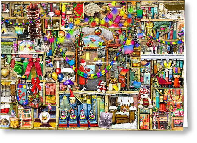 Cupboard Greeting Cards - Christmas Stories Greeting Card by Colin Thompson