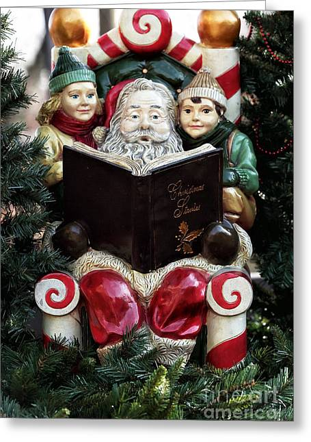 Christmas Stories Greeting Card by John Rizzuto