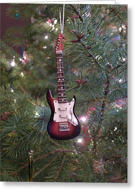 Recently Sold -  - Festivities Greeting Cards - Christmas Stratocaster Greeting Card by Richard Reeve