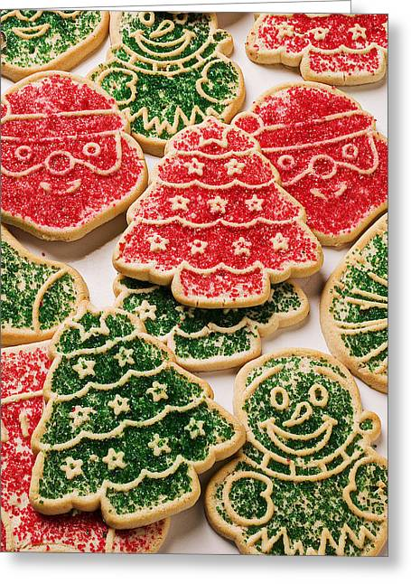 Cookie Greeting Cards - Christmas sugar cookies Greeting Card by Garry Gay