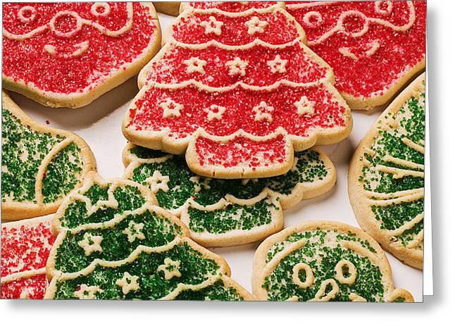 Christmas sugar cookies Greeting Card by Garry Gay