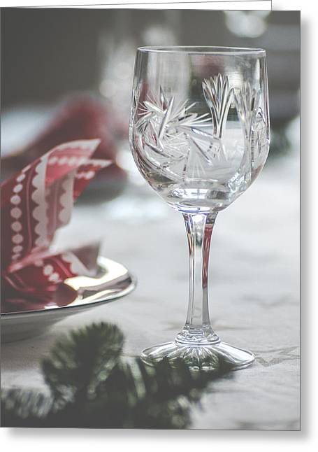 Kjona Greeting Cards - Christmas table Greeting Card by Mirra Photography