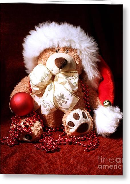 Terri Waters Greeting Cards - Christmas Teddy Greeting Card by Terri  Waters