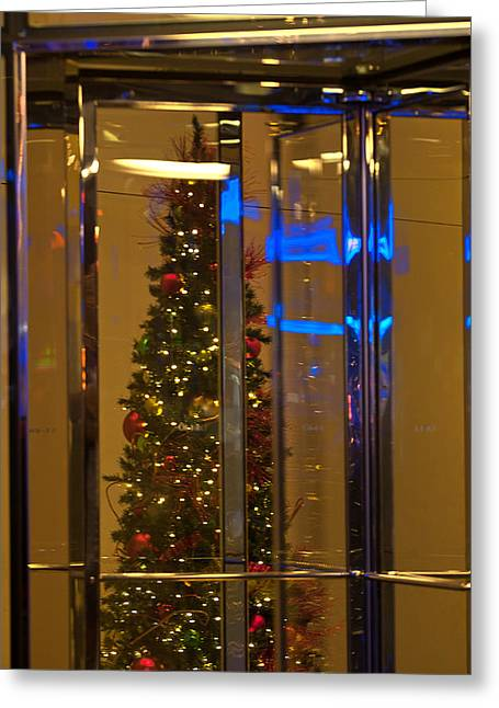 Toy Guitar Greeting Cards - Christmas Through the Revolving Door Greeting Card by Paul Mangold