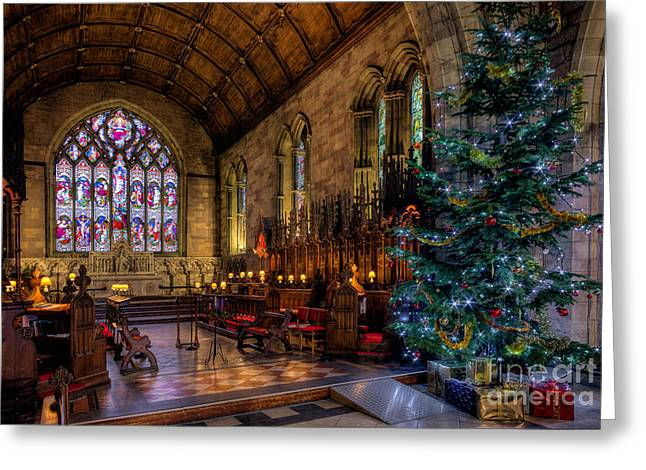 North Wales Greeting Cards - Christmas Time Greeting Card by Adrian Evans