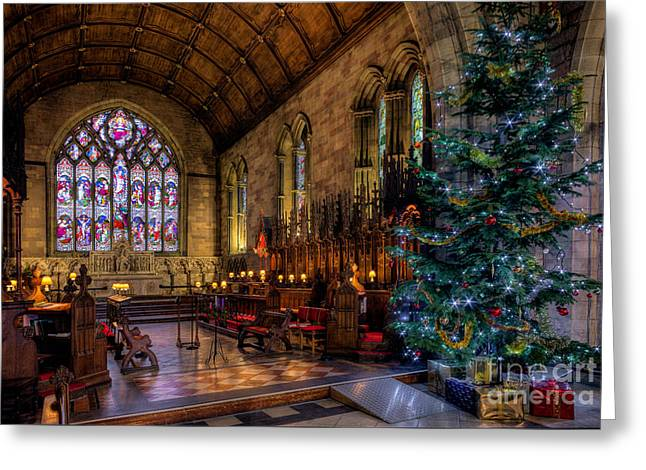 Christmas Time Greeting Card by Adrian Evans