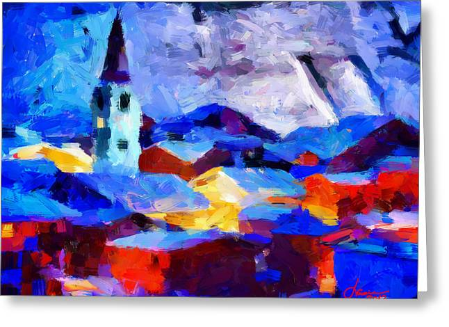 Vincent Dinovici Greeting Cards - Christmas time in the town TNM Greeting Card by Vincent DiNovici
