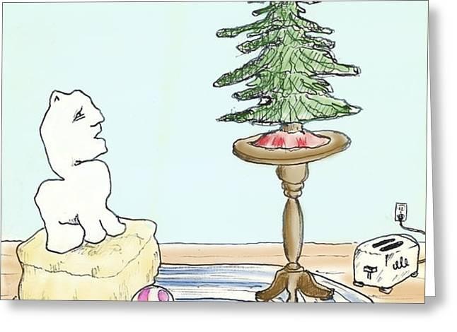 Christmas Toaster Greeting Card by Alan McCormick