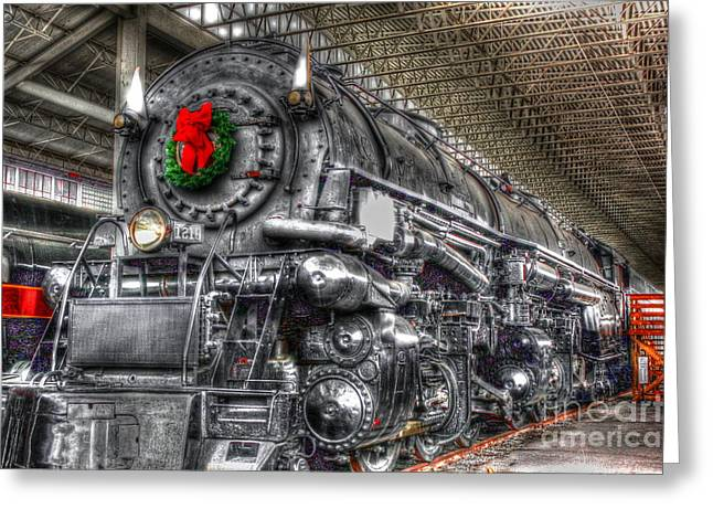 Recently Sold -  - Victorian Greeting Cards - Christmas Train-The Holiday Station Greeting Card by Dan Stone