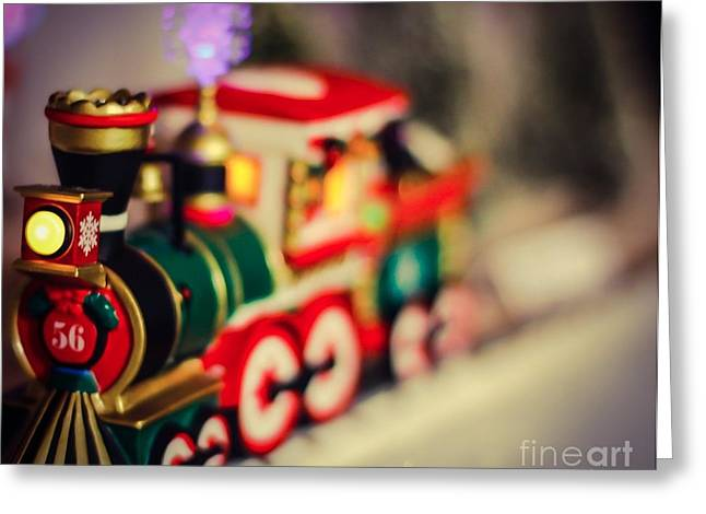 Awesome Pyrography Greeting Cards - Christmas Trains Greeting Card by Jeremy  Shusman
