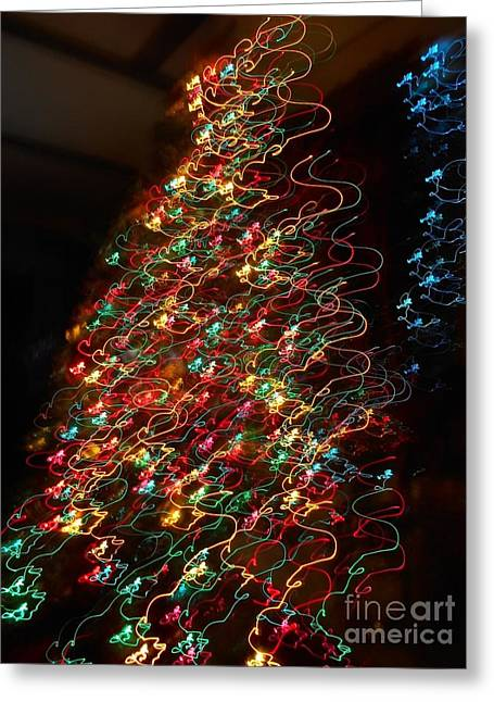 Catherine White Greeting Cards - Christmas Tree 2014 Greeting Card by Catherine Lott