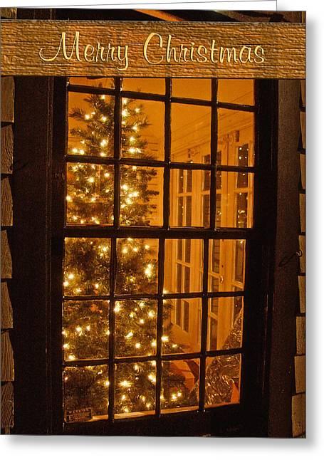 Christmas Greeting Photographs Greeting Cards - Christmas Tree Card Greeting Card by Joann Vitali