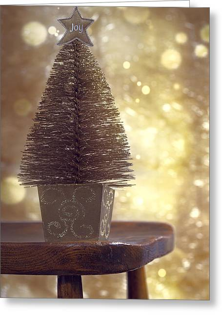 Miniature Effect Greeting Cards - Christmas Tree Greeting Card by Amanda And Christopher Elwell